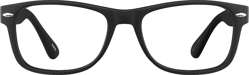 black retro square eyeglasses 270421