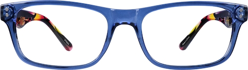 Blue Rectangle Glasses