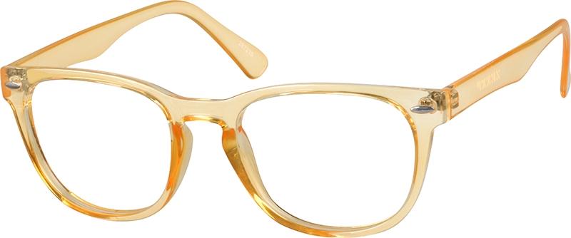 Orange Plastic Full-Rim Frame #287215