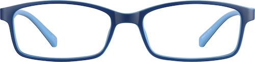 Blue Kids' Rectangle Glasses