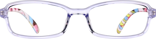 Purple Kids' Rectangle Glasses