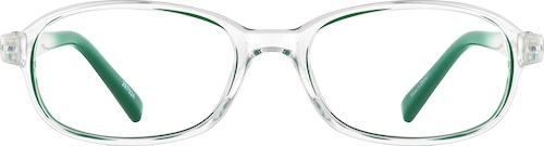 Green Kids' Oval Glasses
