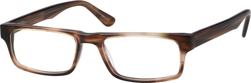 0346192ed8 Brown Rectangle Glasses #306515