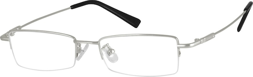311011 Bendable (Memory) Titanium Half-Rim Frame(Variable dimension frame with #3111)
