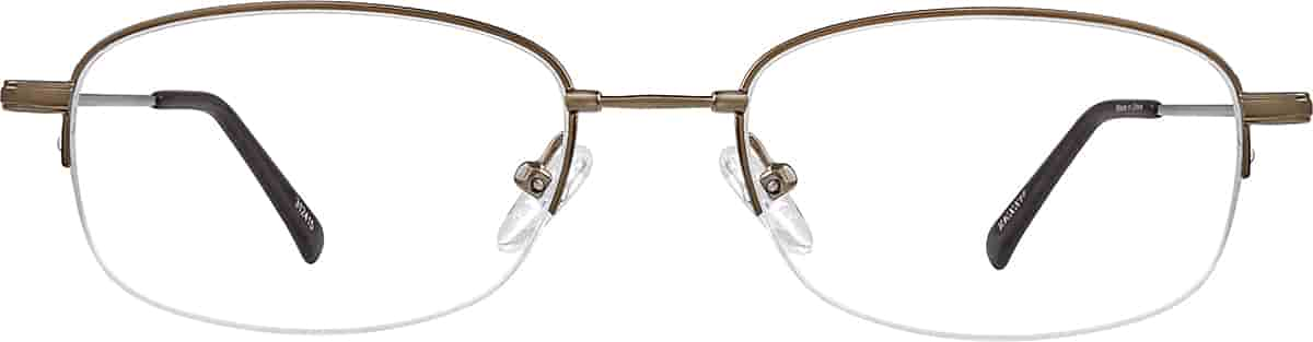 Brown Rectangle Glasses