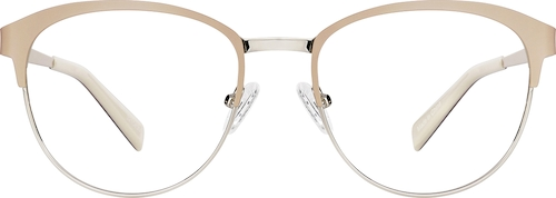 Cream Round Glasses