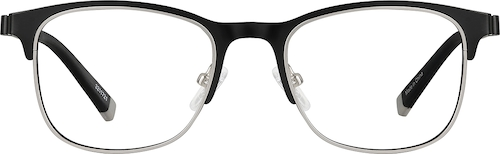 Black/Silver Browline Glasses