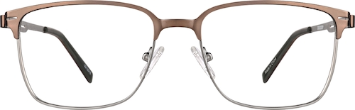 Copper Browline Glasses