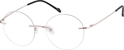 Rose Gold Rimless Glasses