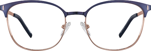 Navy Browline Glasses