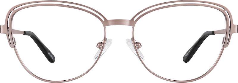b0c011cab80 Rose Gold Cat-Eye Glasses  3216219