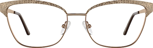 Bronze Cat-Eye Glasses