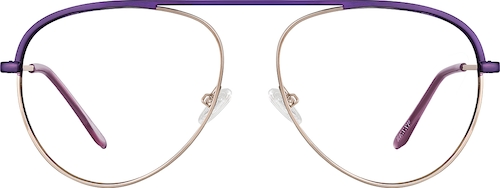 Purple Aviator Glasses