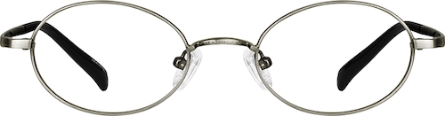 Graphite Oval Glasses
