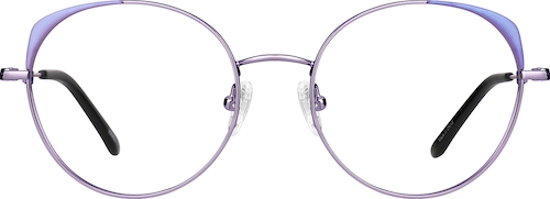Lilac Round Glasses