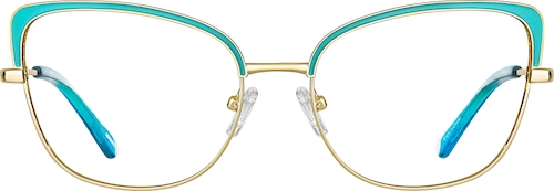 Turquoise Cat-Eye Glasses