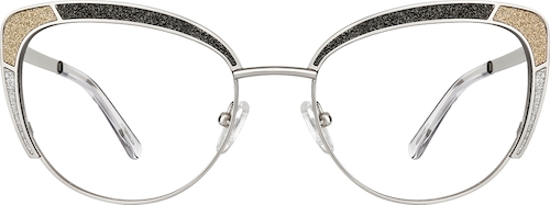 Silver Cat-Eye Glasses
