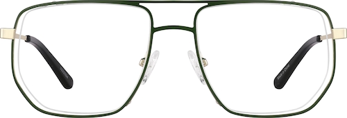 Green Aviator Glasses