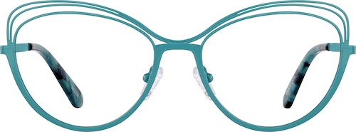 Aqua Cat-Eye Glasses