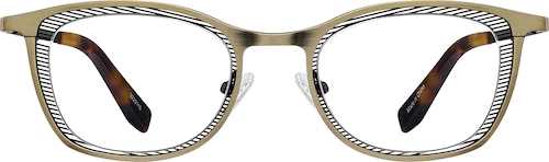 Bronze Rectangle Glasses
