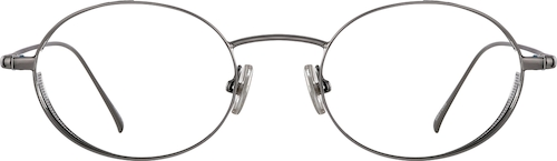 Grey Oval Glasses