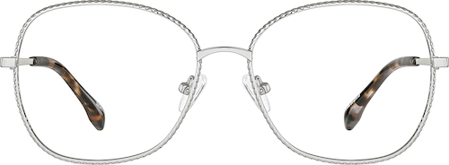Silver Square Glasses