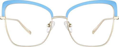 Blue Cat-Eye Glasses