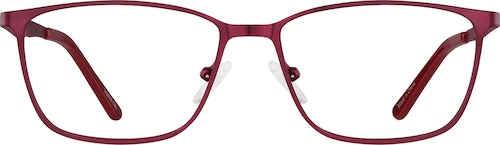 Metallic Red Rectangle Glasses