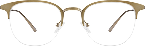 Gold Browline Glasses