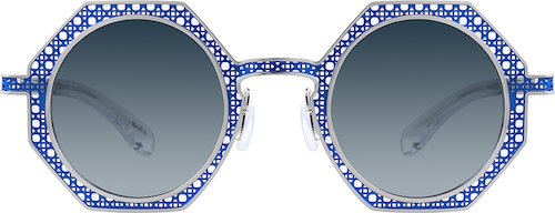 Blue Geometric Glasses