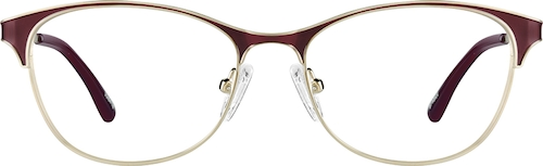 Crimson Cat-Eye Glasses