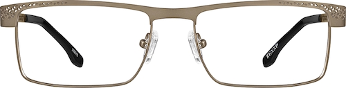 Light Brown Rectangle Glasses