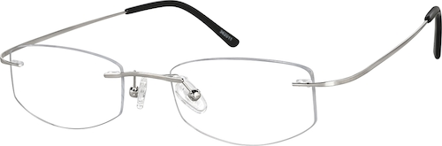 Silver Rimless Glasses
