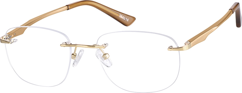 Gold Aluminum Alloy Rimless Frame #364514