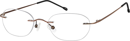 Brown Rimless Glasses