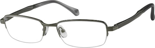 367812 Metal Alloy / Stainless Steel Half-Rim Frame