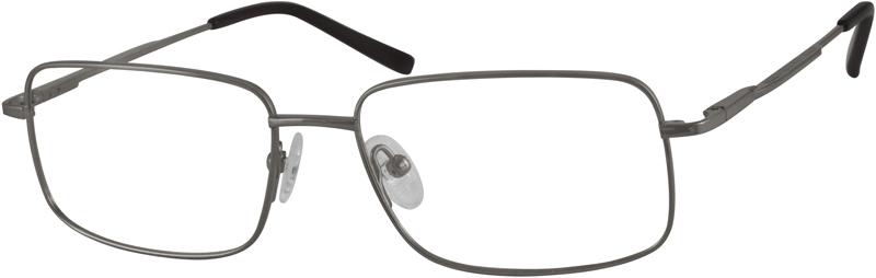 937cecc902 Gray Titanium Rectangle Glasses  374712
