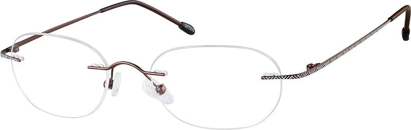 0952947b88 Brown Titanium Rimless Glasses  377215