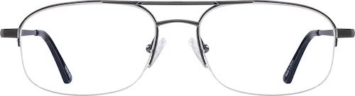 Gray Titanium Aviator Glasses