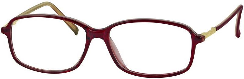 Brown Large Light Plastic Full-Rim Frame With Spring Hinges. #387315
