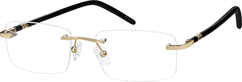 Gold Rimless Glasses