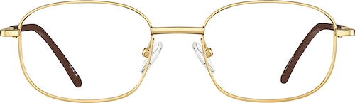 Gold Square Glasses