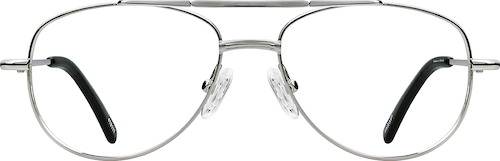 Silver Aviator Glasses
