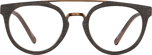 Wood Texture Round Glasses