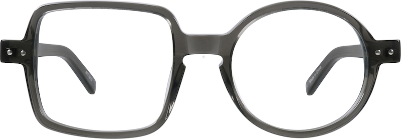 Gray Round & Square Eyeglasses Frame #4411912