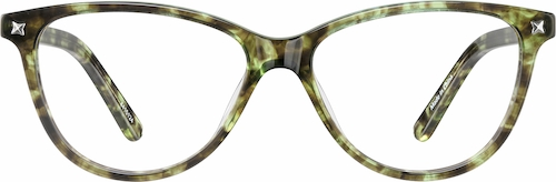 Green Tortoiseshell Cat-Eye Glasses