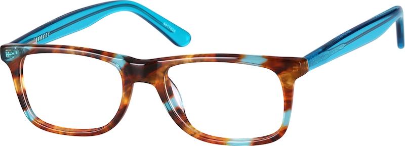 Tortoiseshell Rectangle Glasses angle-view
