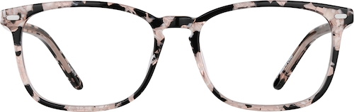 Pink Tortoiseshell Rectangle Glasses