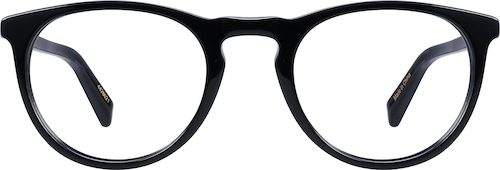 Black Johnson Round Eyeglasses
