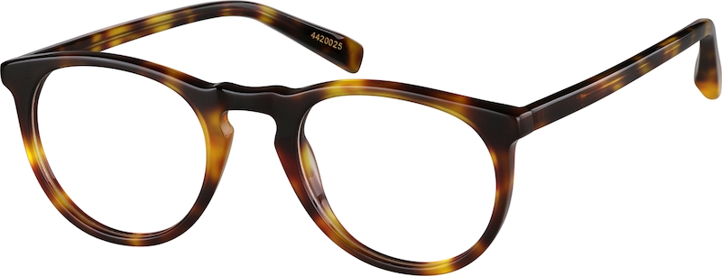 e6010e5d01 Tortoiseshell Johnson Round Eyeglasses  4420025